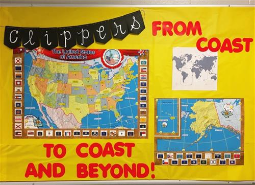 US map showing where students are from