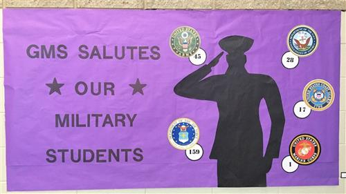 GMS Salutes our Military Students
