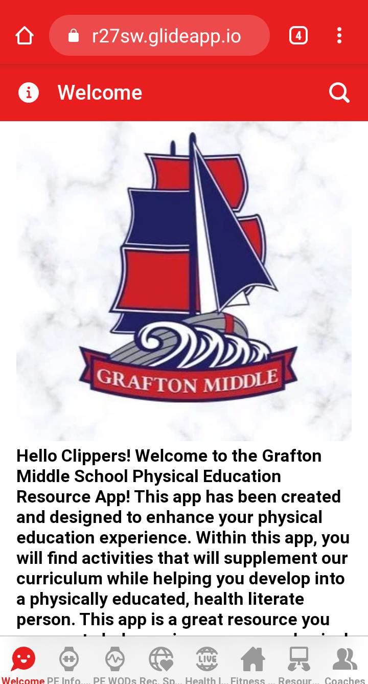 GMS logo and information about the App