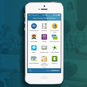cell phone with YCSD mobile app launched