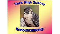 YHS Announcements